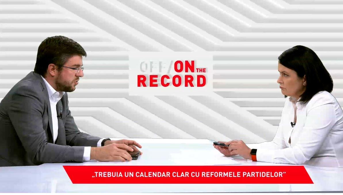 OFF/ON THE RECORD, 10 octombrie 2021. Invitat: Irineu Darău, senator USR PLUS